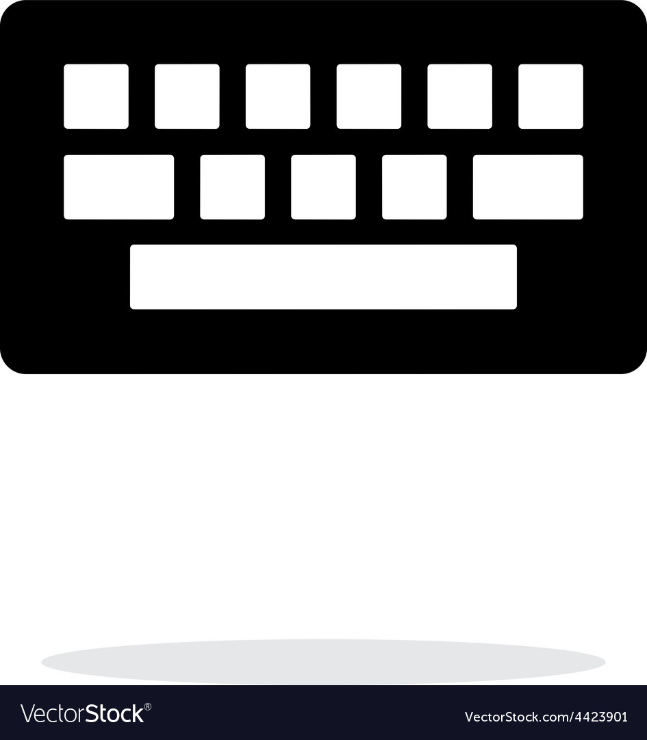 Computer keyboard icon on white background vector | Price: 1 Credit (USD $1)