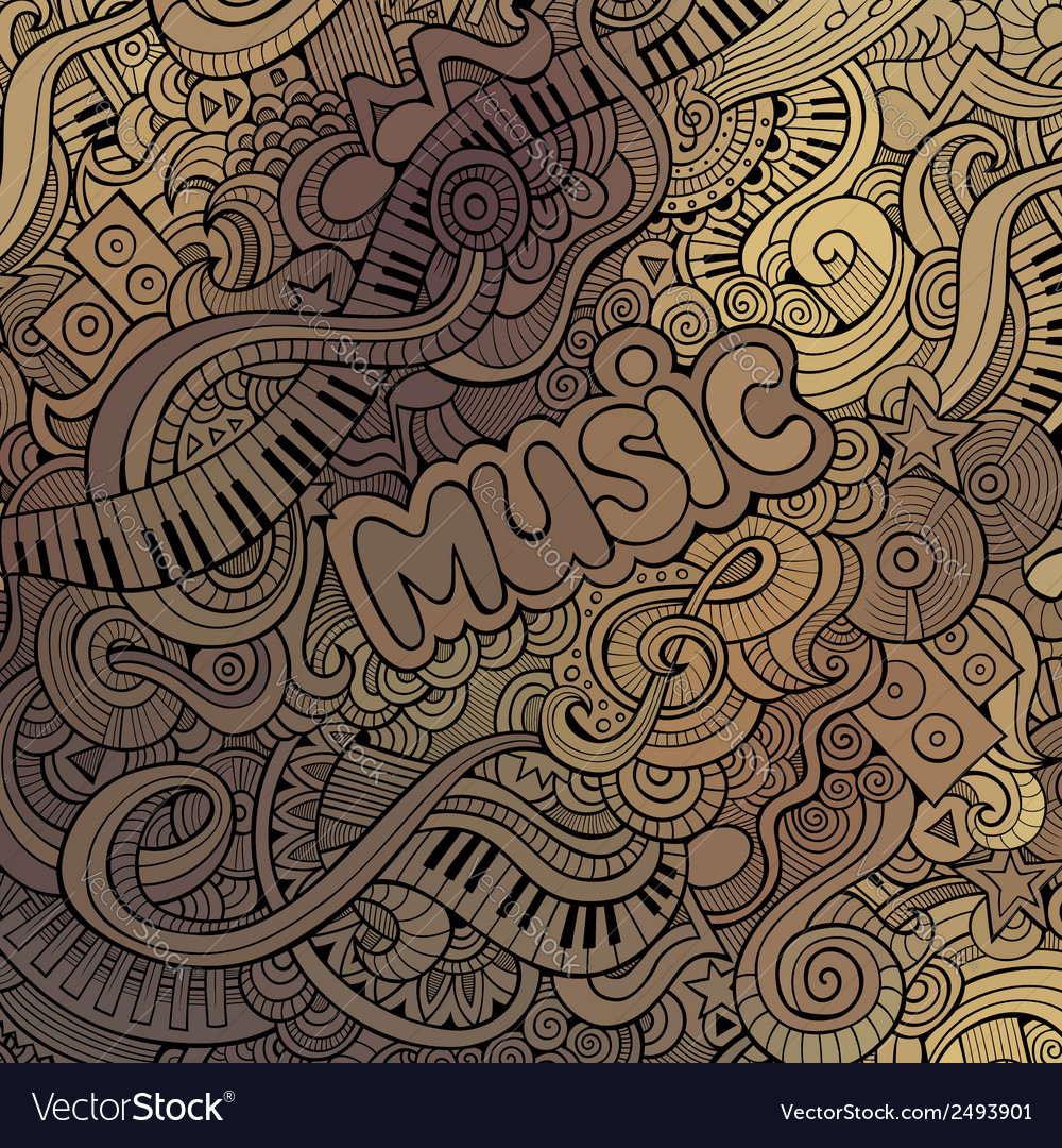 Doodles musical background vector | Price: 1 Credit (USD $1)
