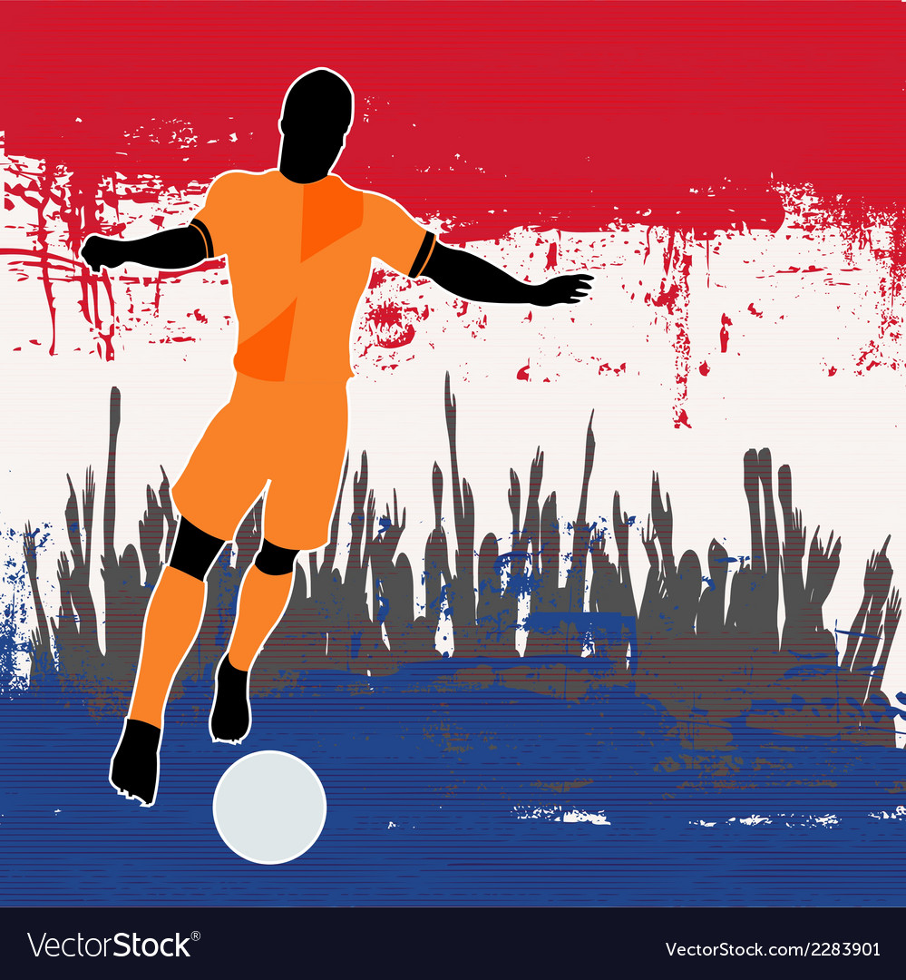 Football netherlands vector | Price: 1 Credit (USD $1)