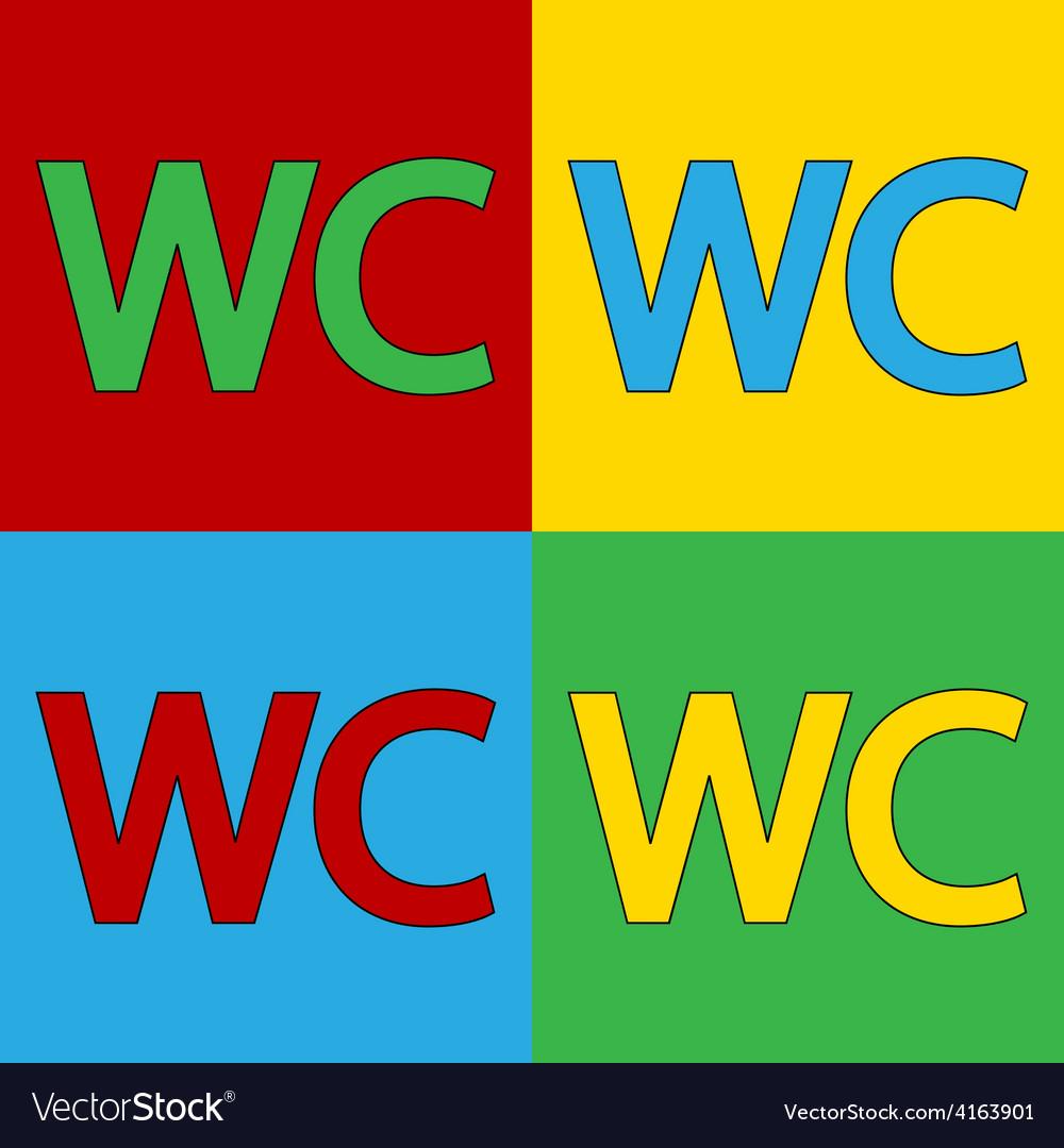 Pop art toilet icons vector   Price: 1 Credit (USD $1)