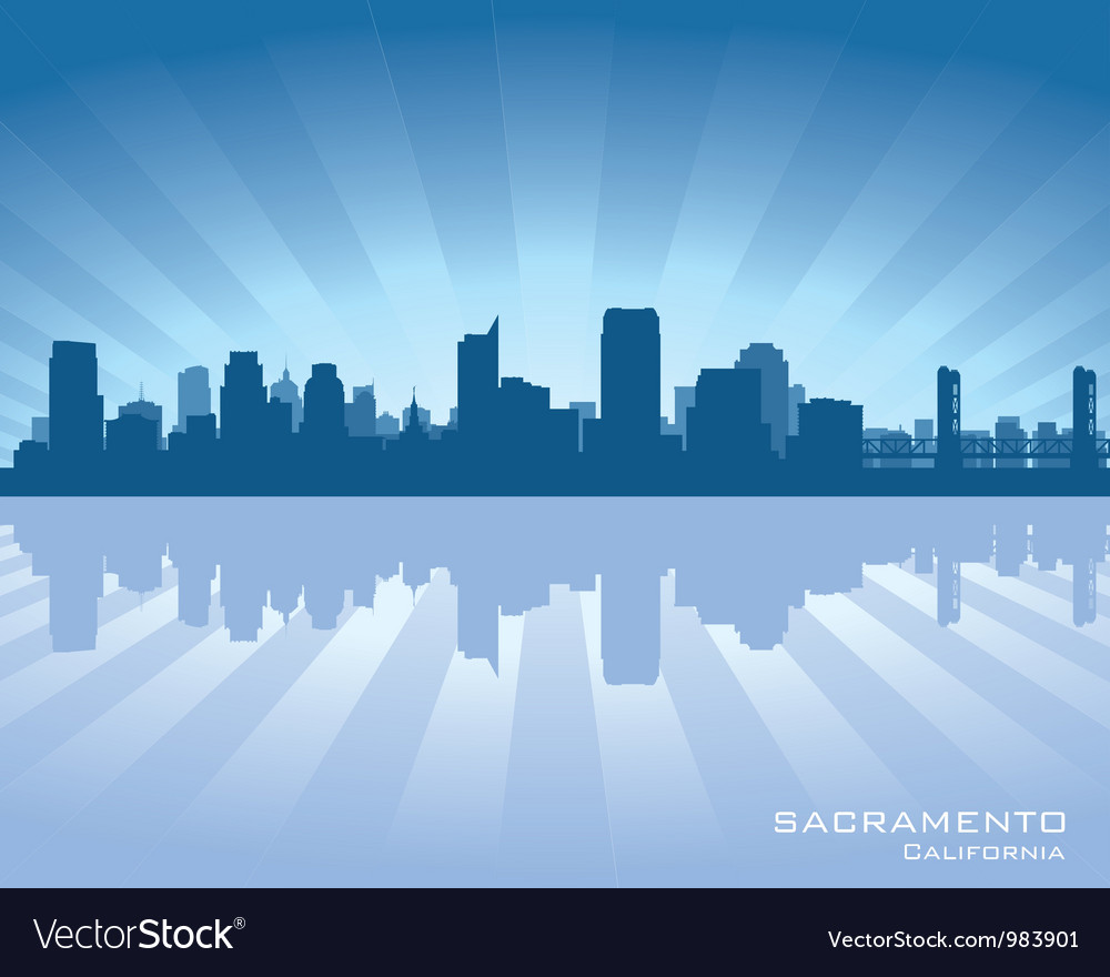 Sacramento california skyline vector | Price: 1 Credit (USD $1)