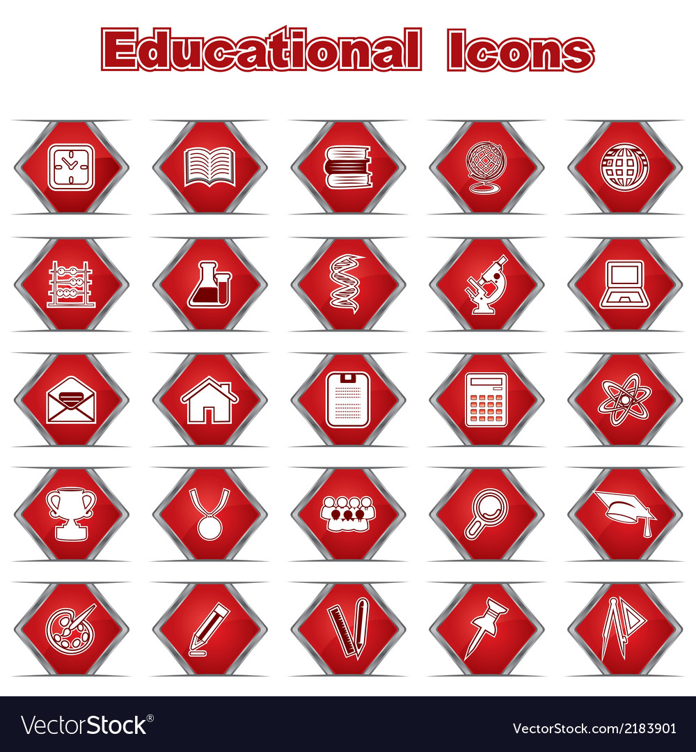 Set of educational icons vector | Price: 1 Credit (USD $1)
