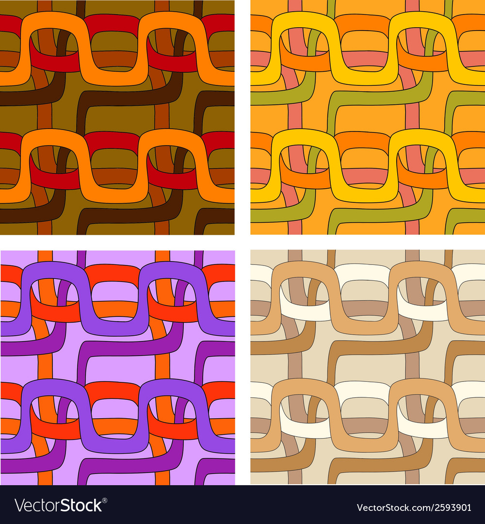 Set of seamless patterns in different color ranges vector | Price: 1 Credit (USD $1)