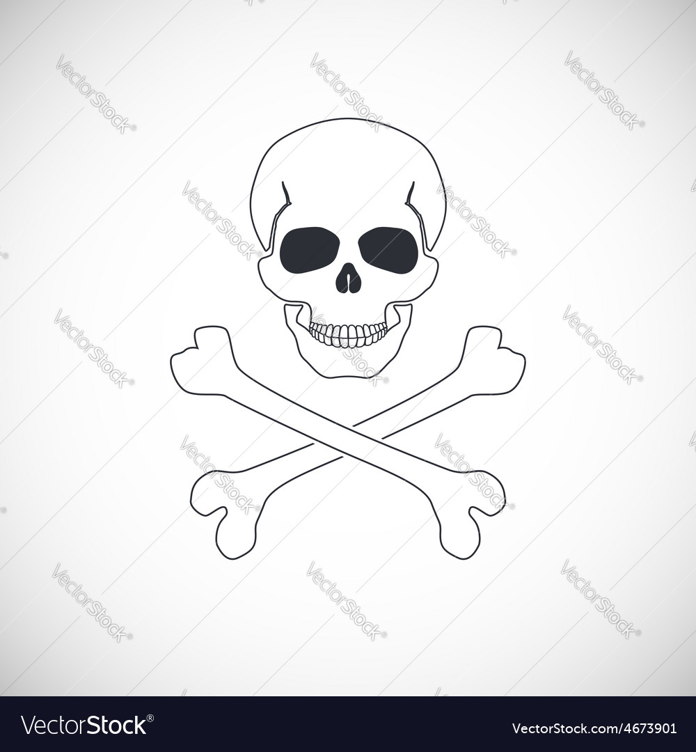 Skull and crossbones sign vector | Price: 1 Credit (USD $1)