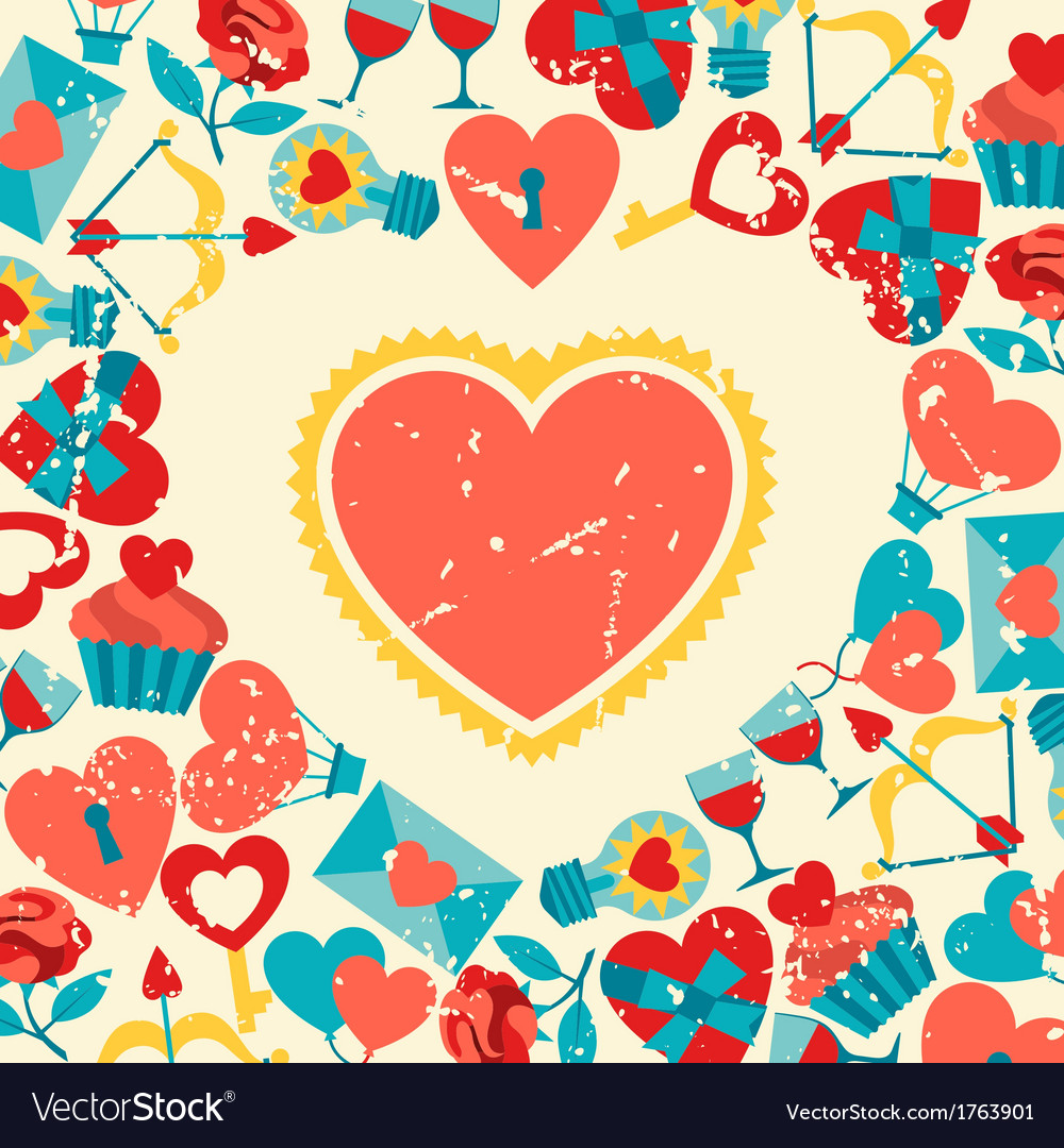 Valentines and wedding background vector | Price: 1 Credit (USD $1)