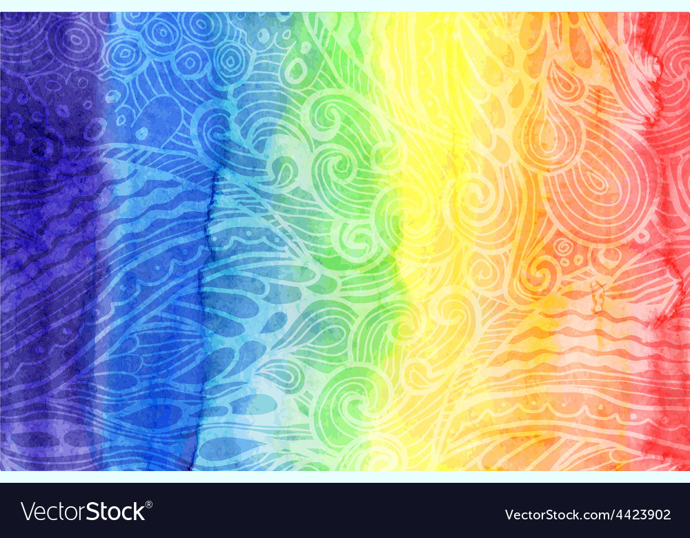Abstract watercolor rainbow colors background vector | Price: 1 Credit (USD $1)