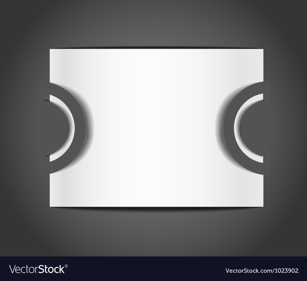 Blank paper template vector | Price: 1 Credit (USD $1)