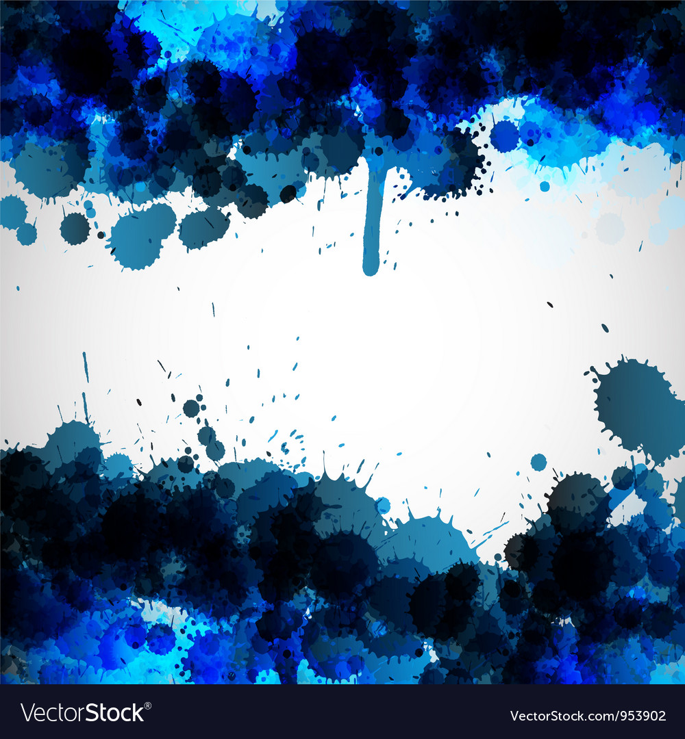 Blue ink blots background vector | Price: 1 Credit (USD $1)