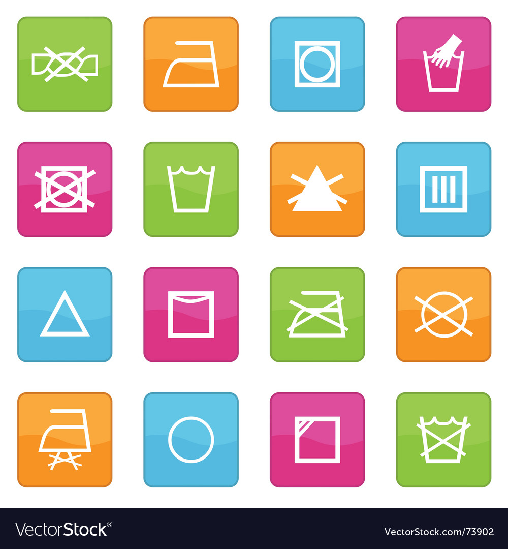 Fabric care symbols vector | Price: 1 Credit (USD $1)