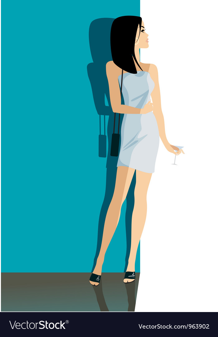 Girl cocktail vector | Price: 1 Credit (USD $1)