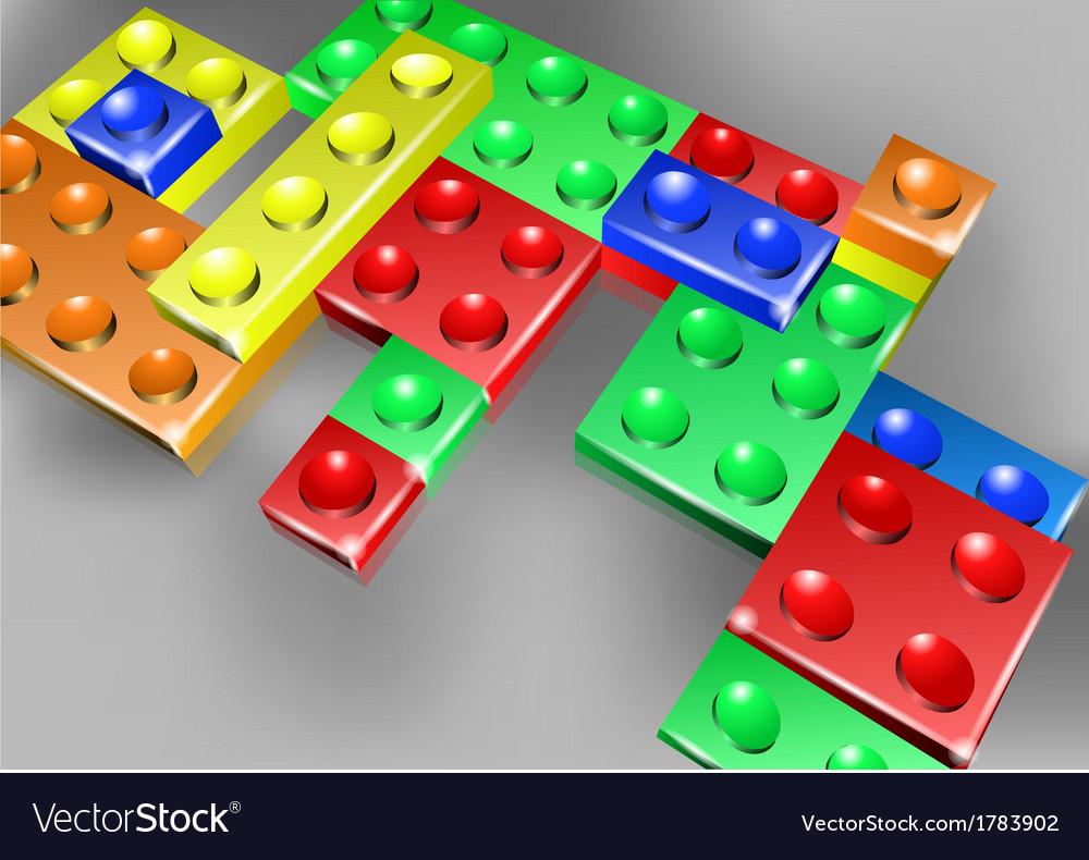 Interlock bricks design vector | Price: 1 Credit (USD $1)