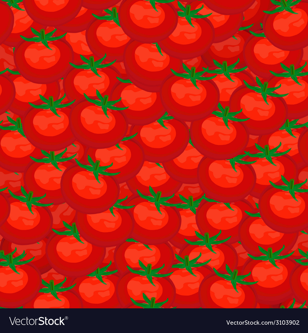Seamless background of red ripe tomatoes vector | Price: 1 Credit (USD $1)
