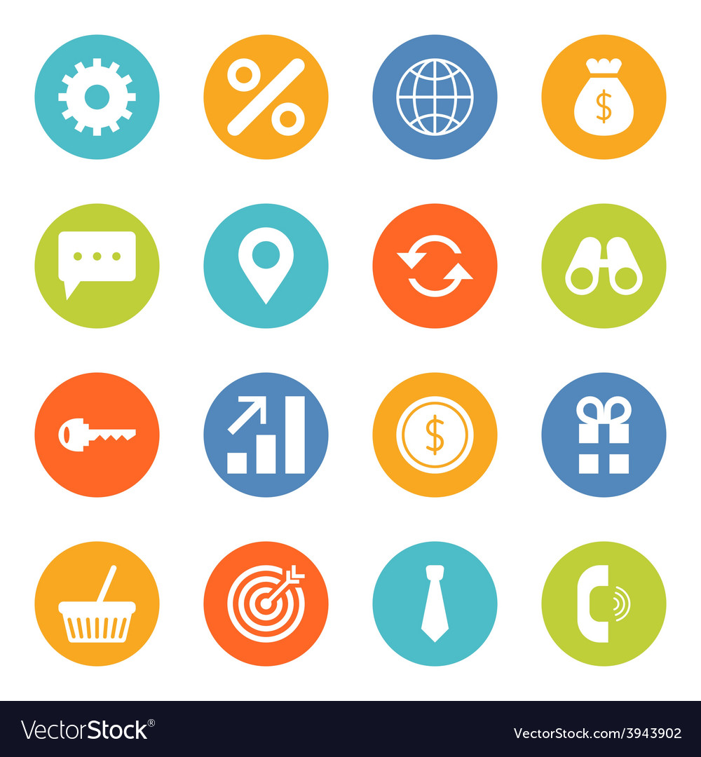 Set of flat design business and finance icons vector | Price: 1 Credit (USD $1)