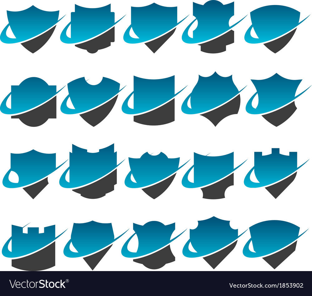Swoosh shield logo icons vector | Price: 1 Credit (USD $1)