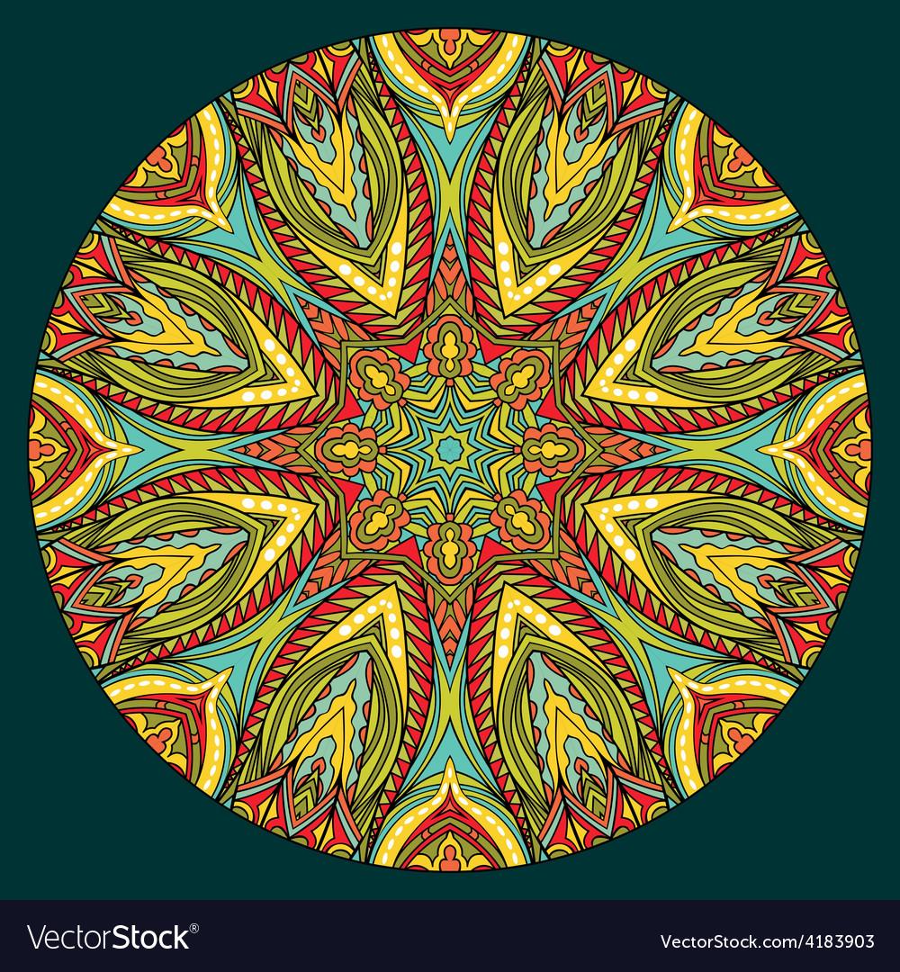 Bright ethnic round element vector | Price: 1 Credit (USD $1)