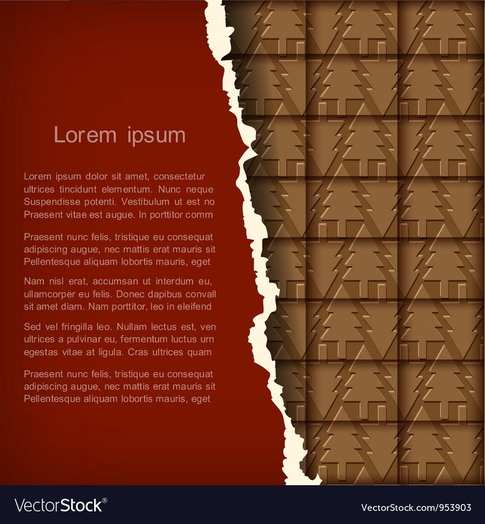 Chocolate christmas card vector   Price: 1 Credit (USD $1)