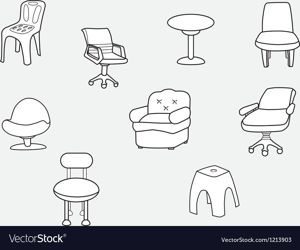 Collection of chair vector | Price: 1 Credit (USD $1)