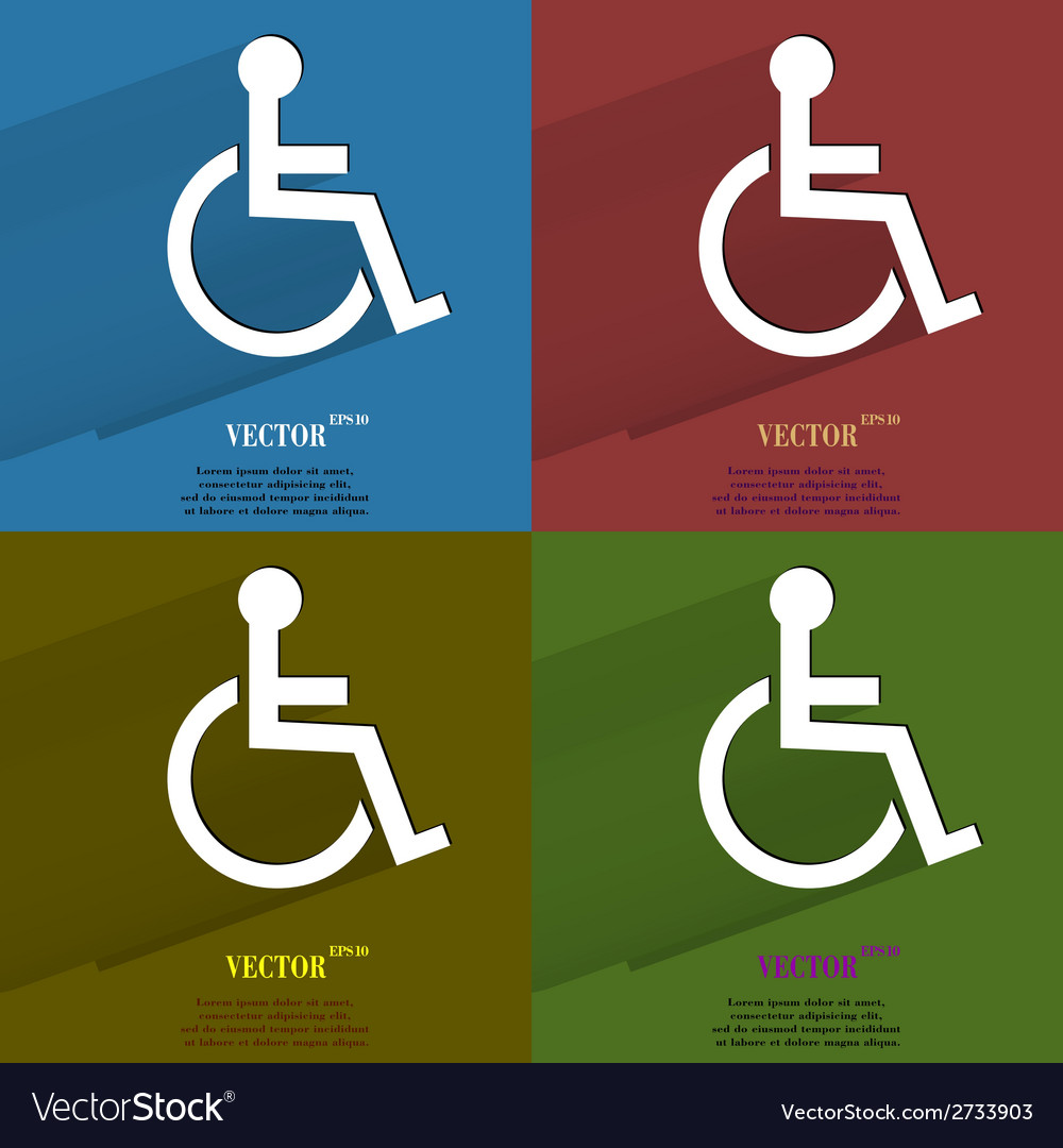 Color set disabled flat modern web button with vector | Price: 1 Credit (USD $1)