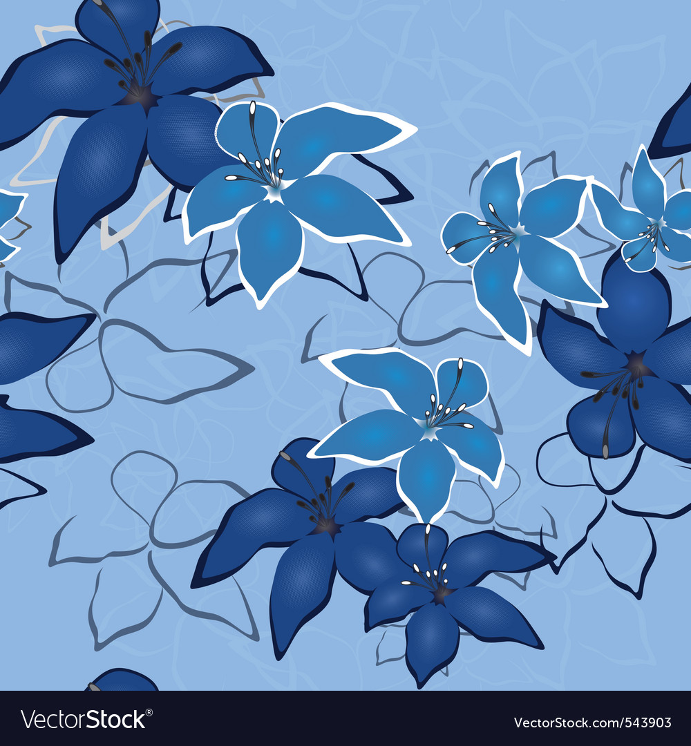 Ector seamless flower background pattern flo vector | Price: 1 Credit (USD $1)