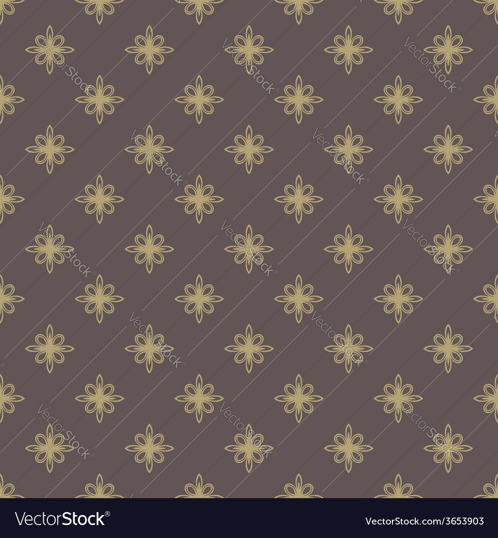 Floral seamless pattern orient golden abstract vector | Price: 1 Credit (USD $1)