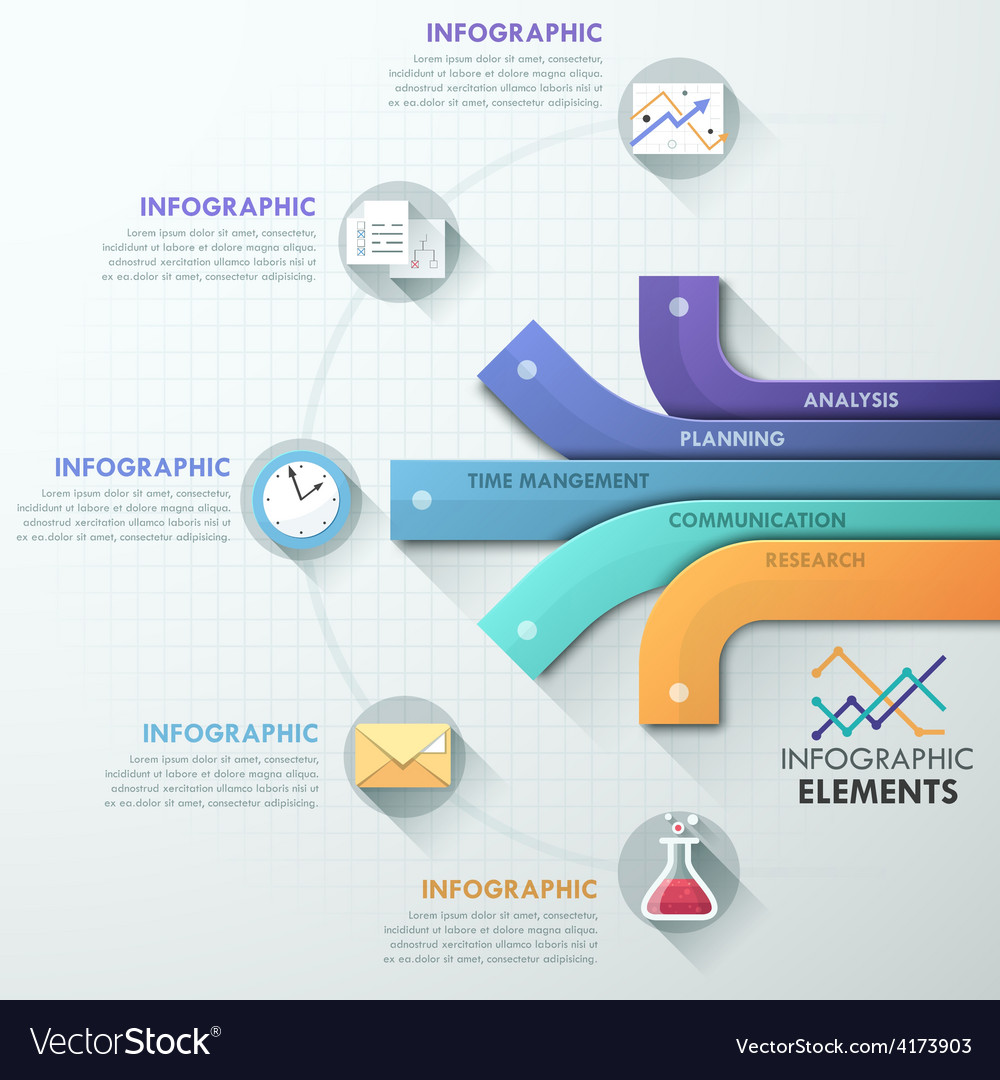 Modern infographics options banner vector   Price: 3 Credit (USD $3)