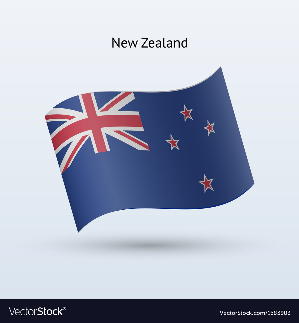 New zealand flag waving form vector | Price: 1 Credit (USD $1)