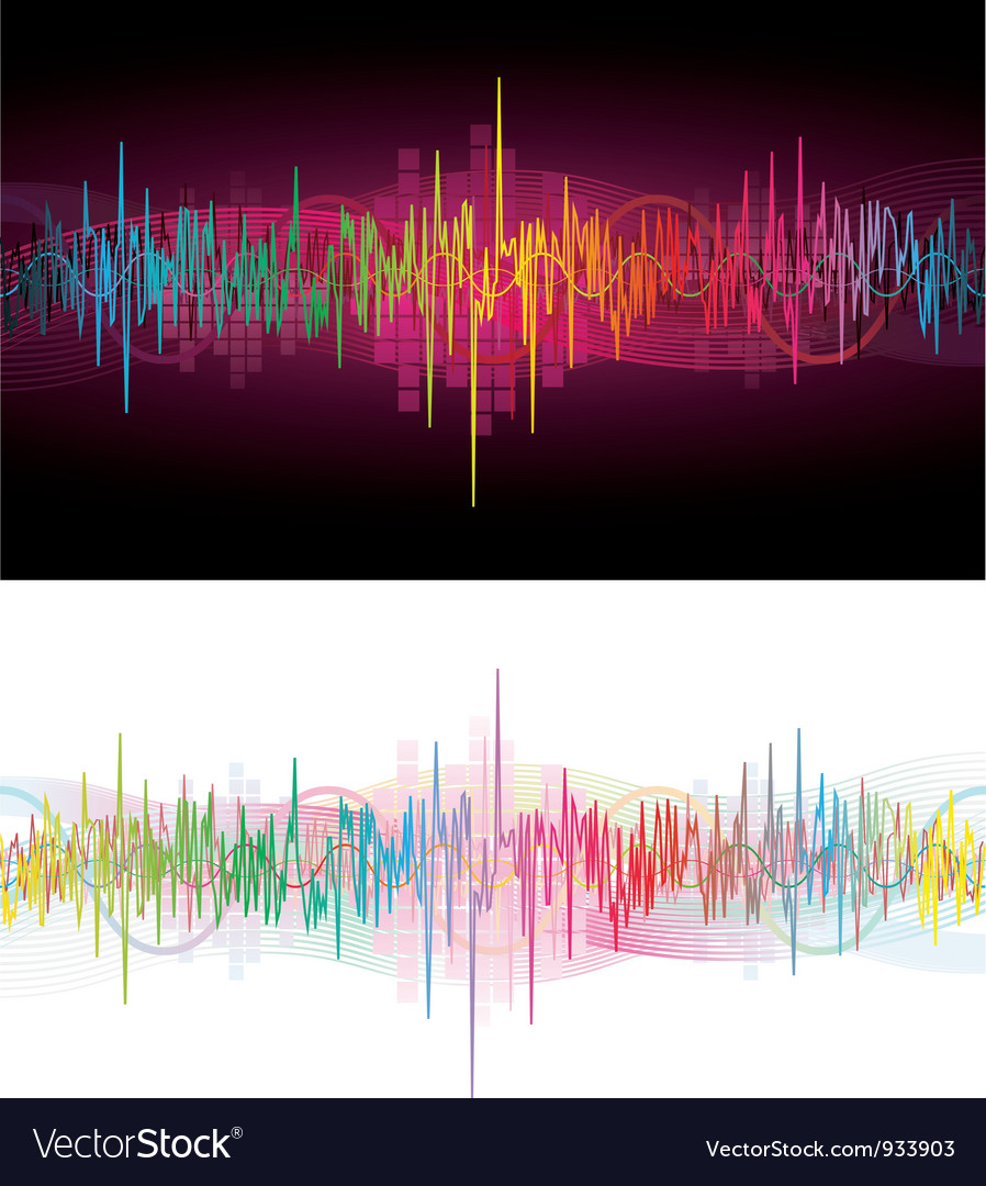 Rainbow waves vector