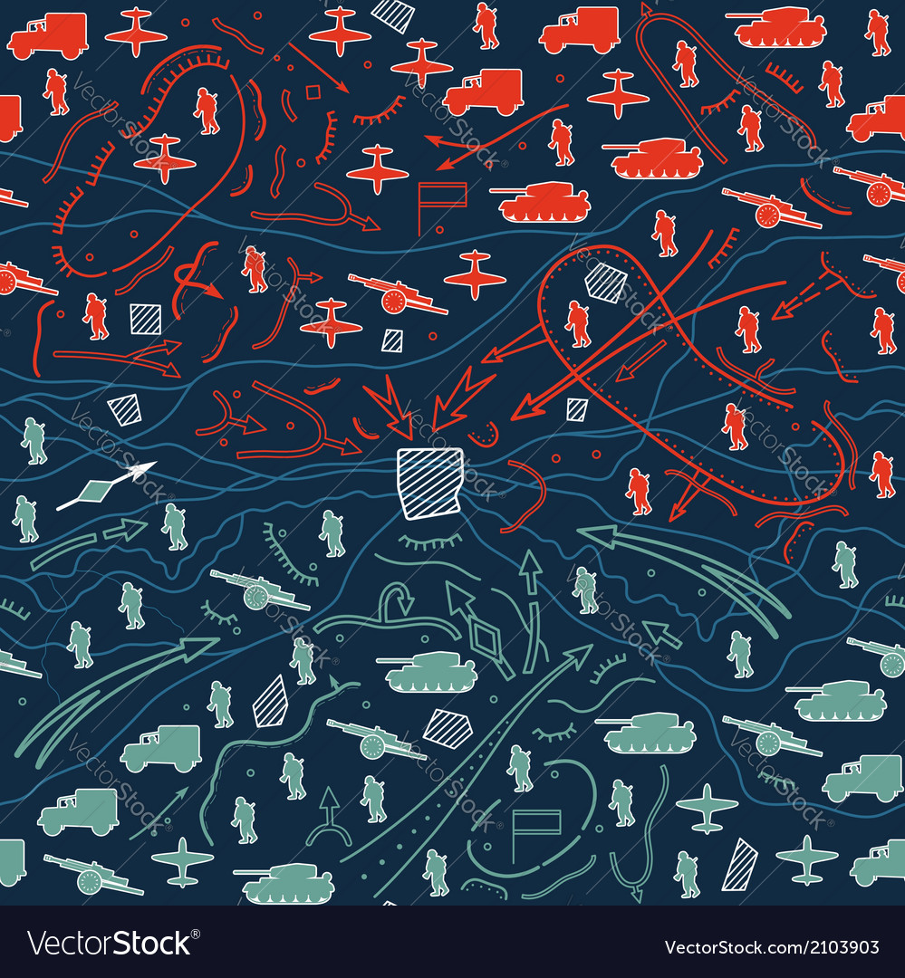 Seamless military pattern 07 vector | Price: 1 Credit (USD $1)