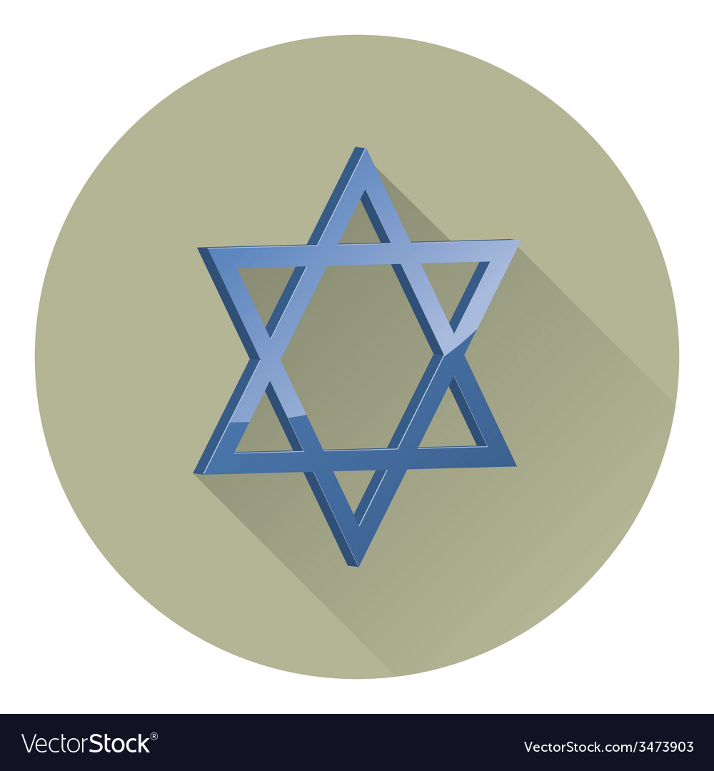Six-pointed star of david vector | Price: 1 Credit (USD $1)