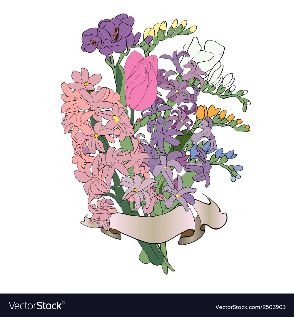 Spring flowers bouquet vector | Price: 1 Credit (USD $1)