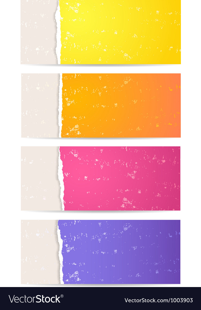 Torn paper banner set vector | Price: 1 Credit (USD $1)
