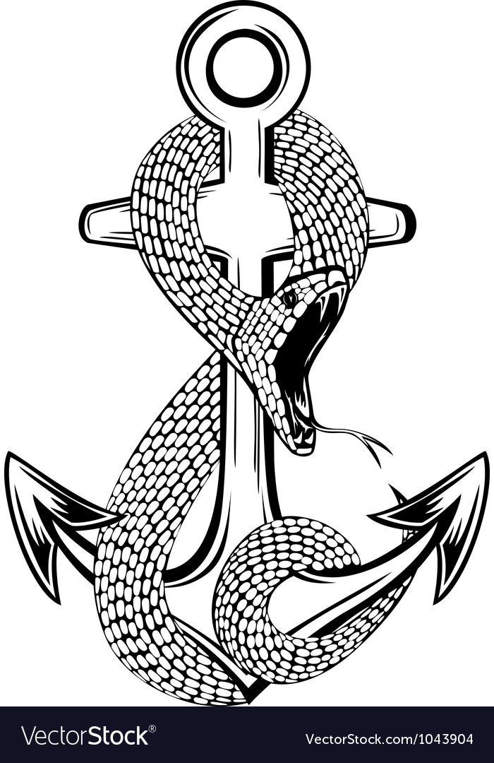 Anchor and snake vector | Price: 1 Credit (USD $1)