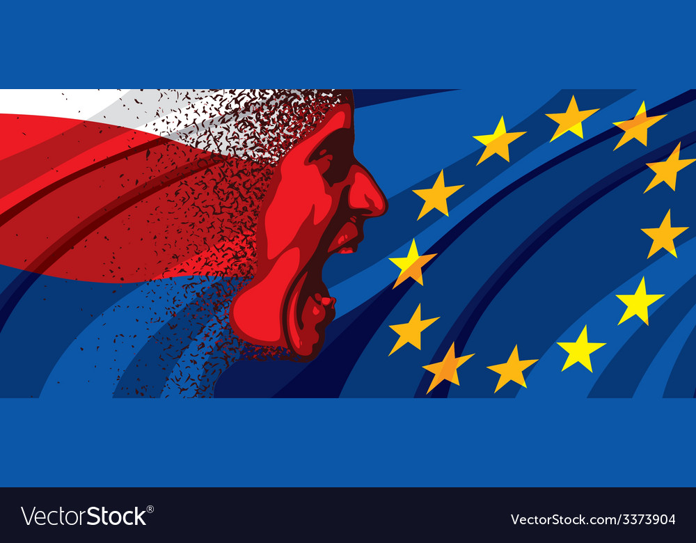 Angry face of russia to europe vector | Price: 3 Credit (USD $3)