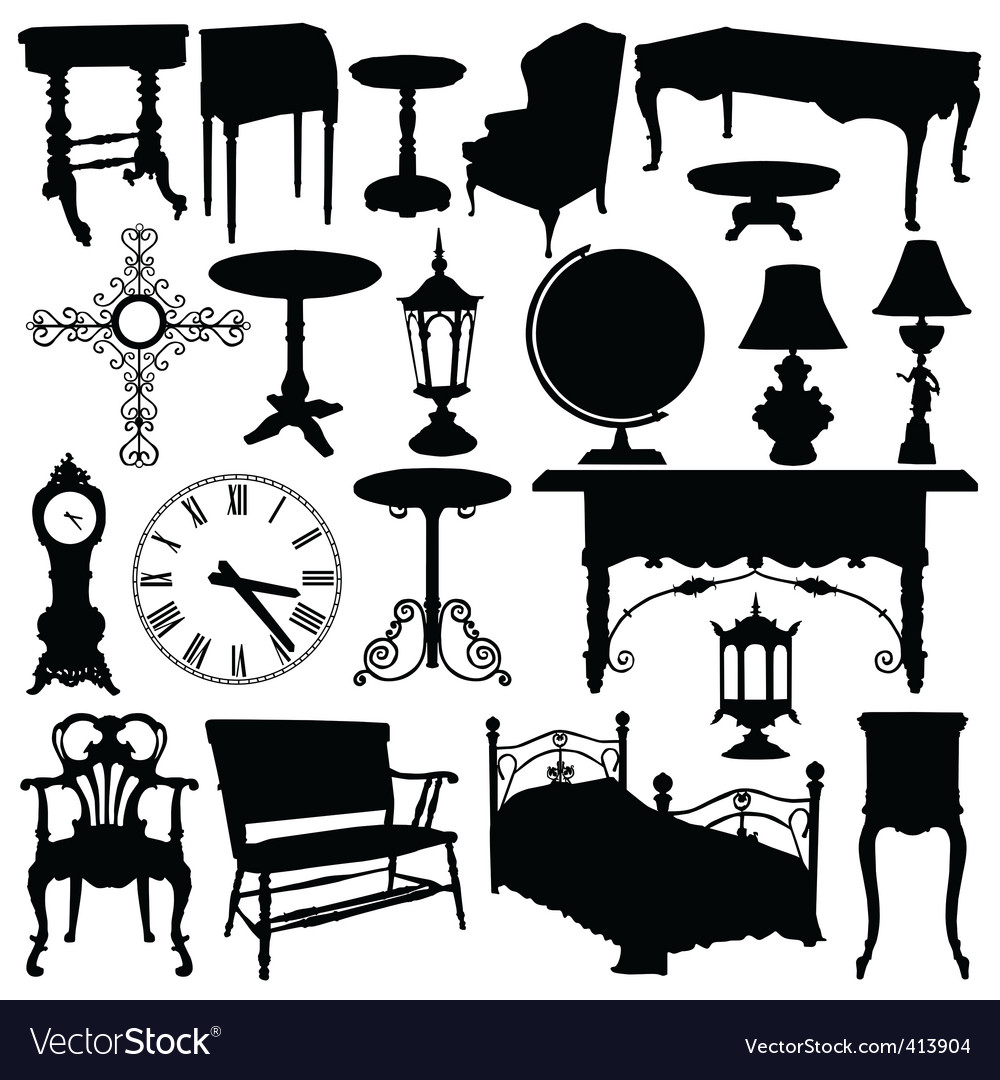 Antique furniture vector | Price: 1 Credit (USD $1)