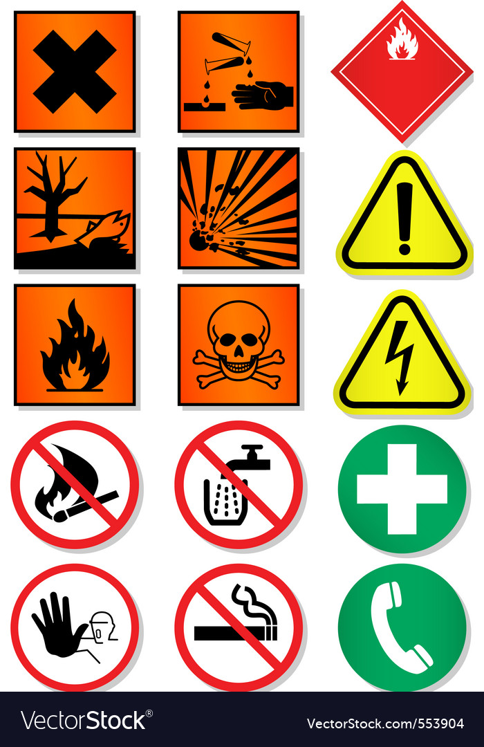 Caution icons vector | Price: 1 Credit (USD $1)