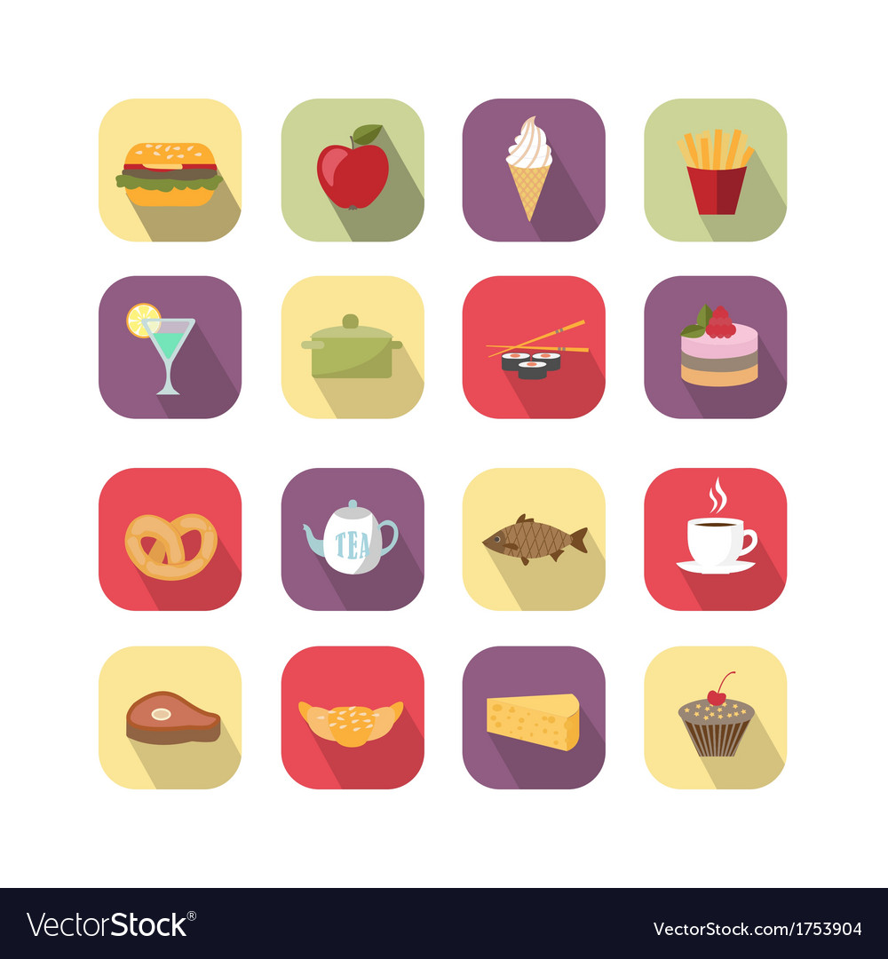 Food design elements vector | Price: 1 Credit (USD $1)