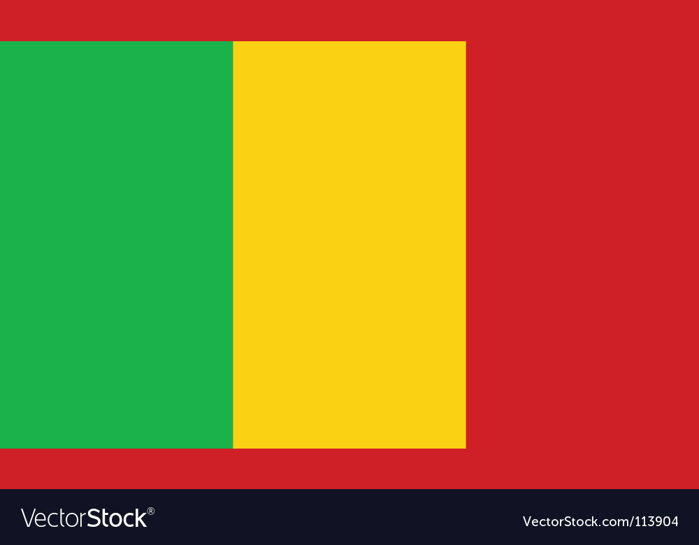 Mali flag vector | Price: 1 Credit (USD $1)