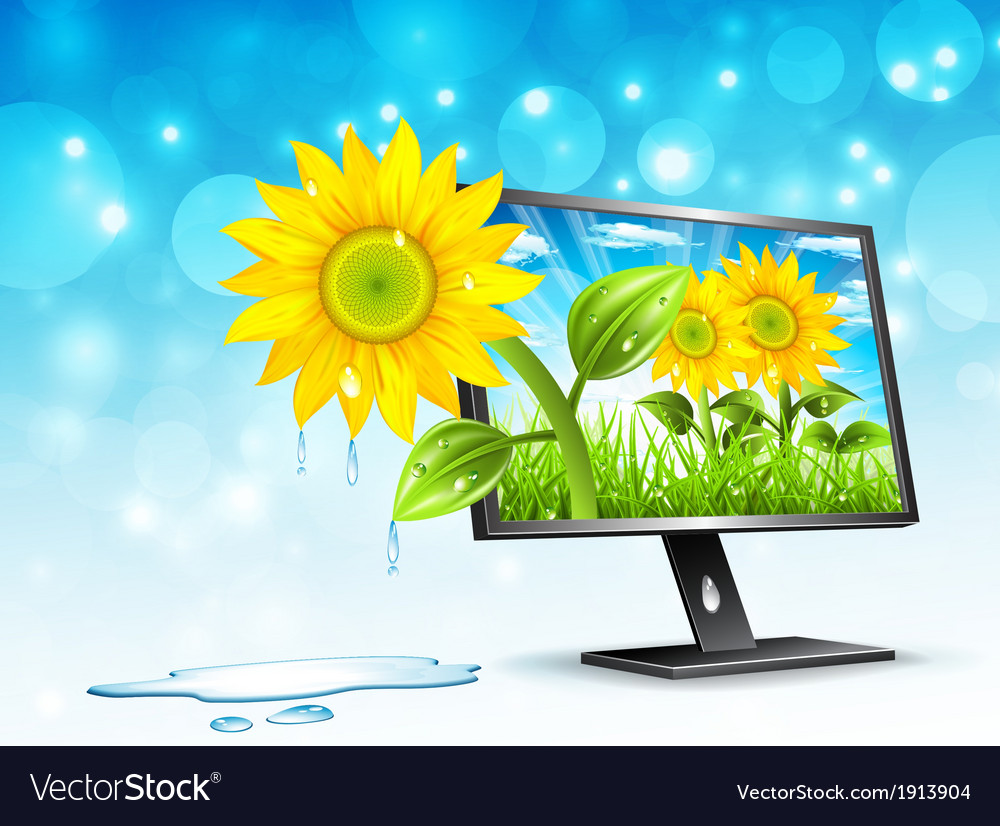 Monitor vector | Price: 3 Credit (USD $3)