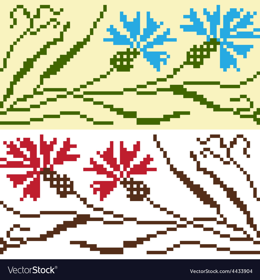Set of ethnic ornament pattern in different colors vector | Price: 1 Credit (USD $1)