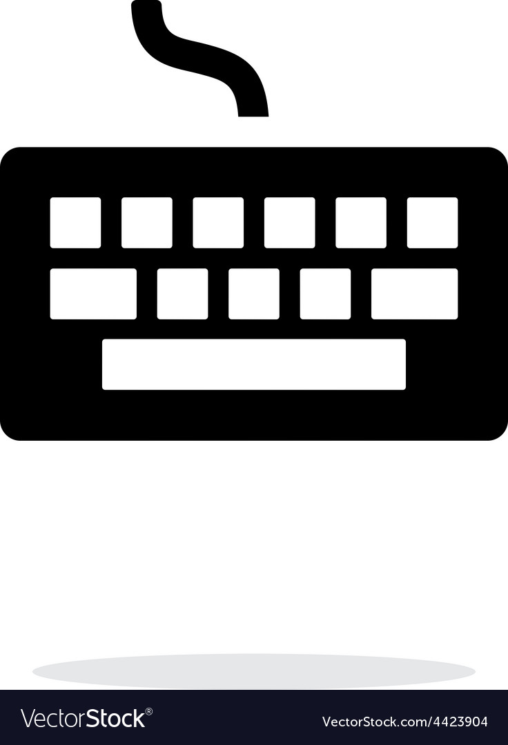 Wired keyboard icon on white background vector | Price: 1 Credit (USD $1)