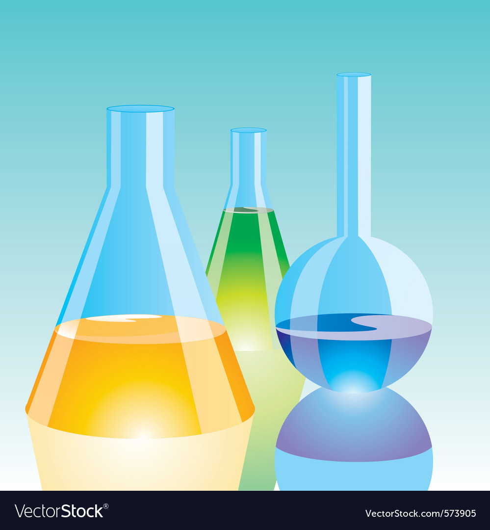 Color chemical flasks vector | Price: 1 Credit (USD $1)