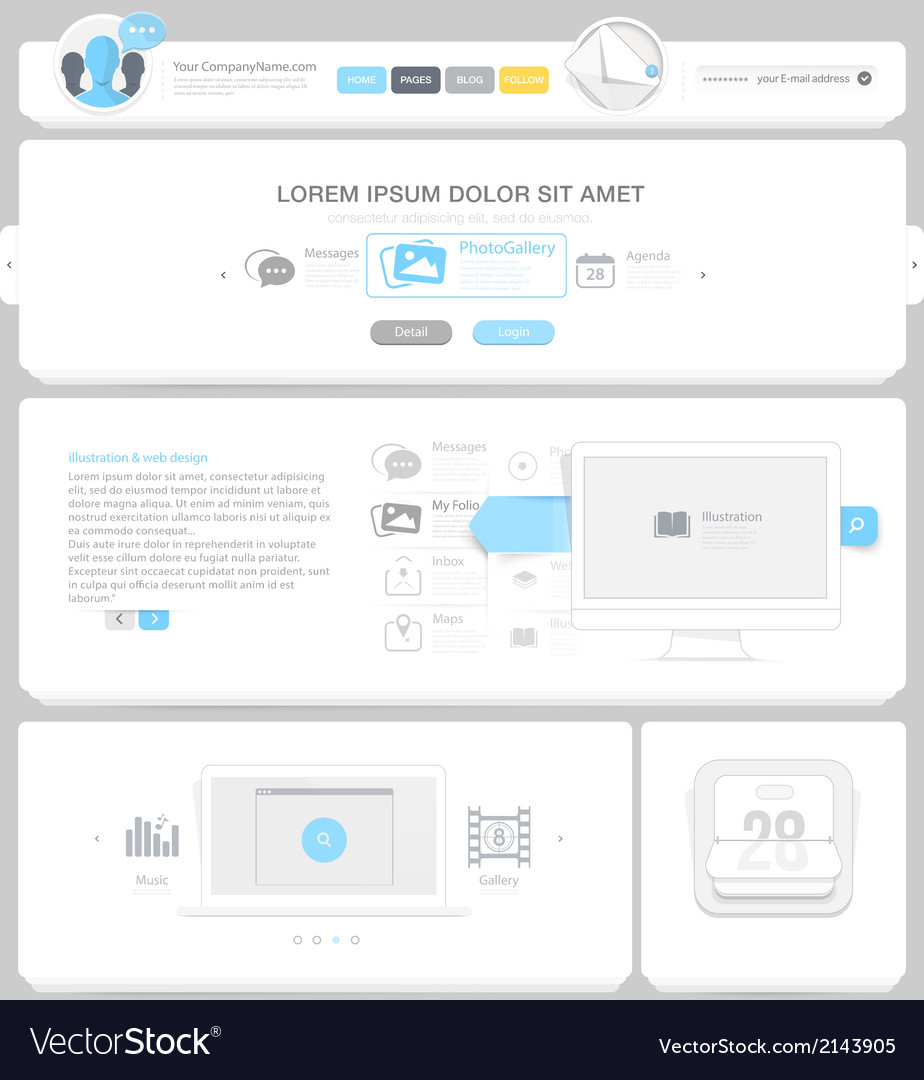 Communication web design elements vector | Price: 1 Credit (USD $1)