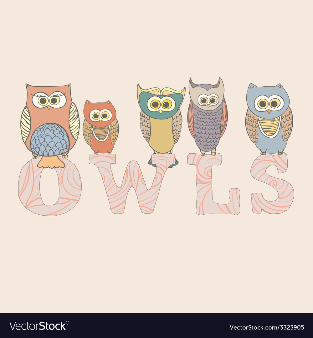 Cuuteowls vector | Price: 1 Credit (USD $1)