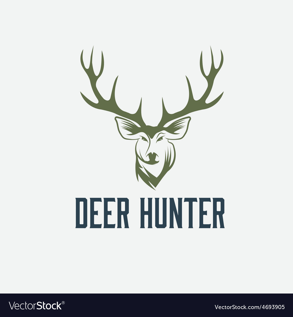 Deer hunter design template vector | Price: 1 Credit (USD $1)
