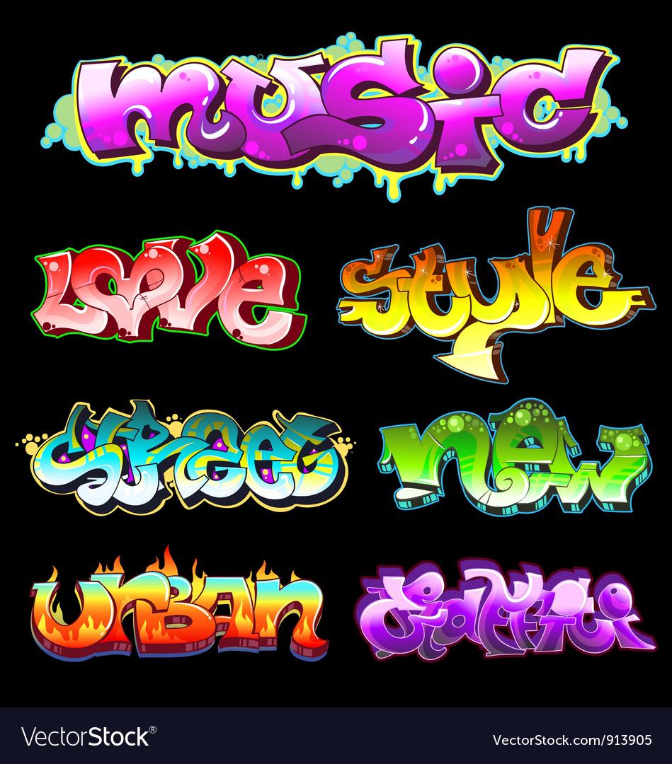 Graffiti urban art vector | Price: 1 Credit (USD $1)