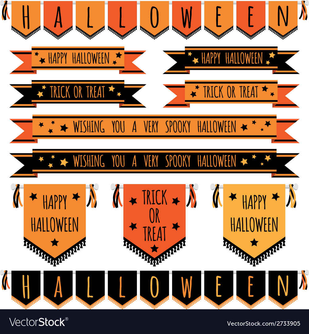 Halloween ribbons vector | Price: 1 Credit (USD $1)