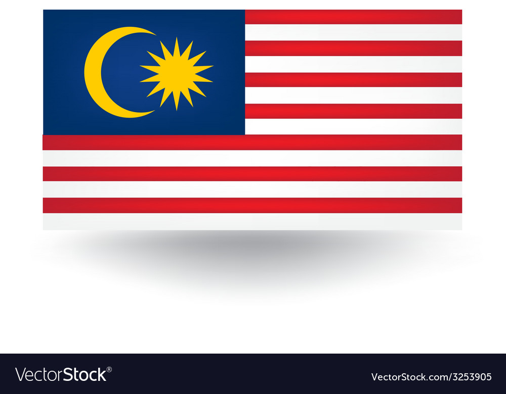 Malaysia flag vector | Price: 1 Credit (USD $1)
