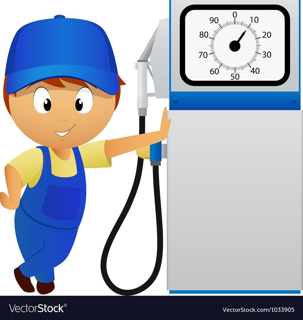 Man fuel pump vector   Price: 3 Credit (USD $3)