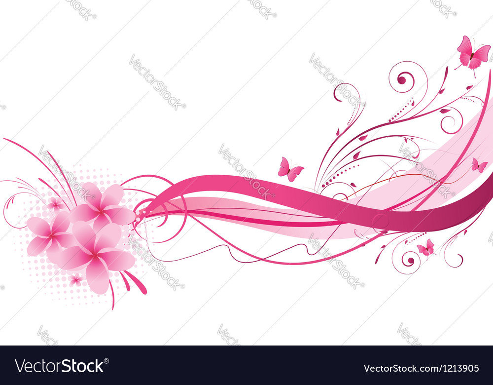 Plumeria pink wave vector | Price: 1 Credit (USD $1)