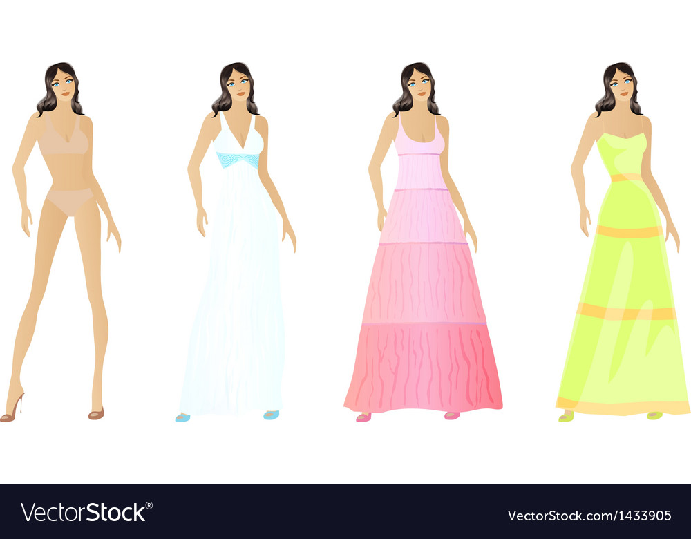 Set of fashion vector | Price: 1 Credit (USD $1)